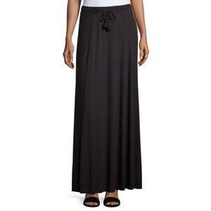 Black maxi skirt calypso
